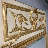 Large French Paint & Gilt Trumeau Mirror (5 of 11)