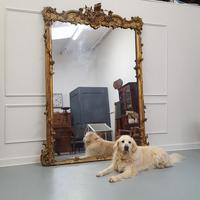 Rare Huge Antique Regency English Gilded Mirror c1820