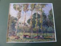 "Ascribed To / Circle of Camille Pissarro ,Watercolour ""Rural Scene in Eragny ""? (4 of 8)"