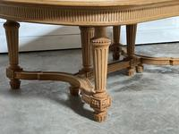 Huge Bleached Oak French Extending Dining Table (17 of 24)