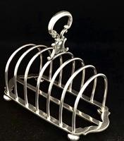 Victorian Silver Plated Arched Shape  Toast Rack (4 of 5)