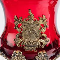 A Rare Pair of Ruby Glass and Ormolu Champagne Coolers (3 of 5)