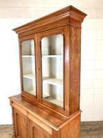 Antique Victorian Mahogany Glazed Bookcase (8 of 9)