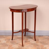 Edwardian Inlaid Mahogany Kidney Shape Occasional Table (11 of 15)