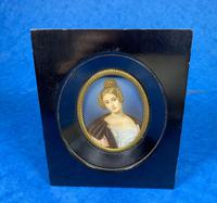 1920s Signed Ebonised Painted Miniature Frame (5 of 10)