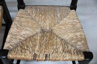 Pair Antique Oak & Rush Lancashire Chairs (7 of 11)