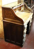 1920s Single Pedestal Oak Stype Rolltop Desk (6 of 6)