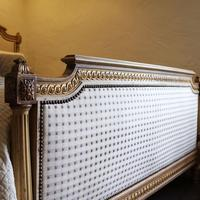 Louis XVI Style Bed with Upholstered Panels (4 of 10)