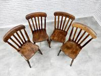 Set of 4 Windsor Lath Back Kitchen Chairs c.1890 (4 of 5)