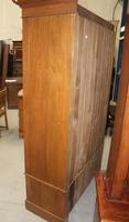 1940's Mirrored 1 Door Oak Wardrobe With Large Drawer. (3 of 5)