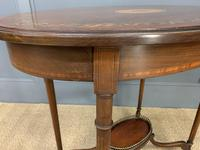 Fine Quality Oval Inlaid Mahogany Occasional Table (5 of 16)