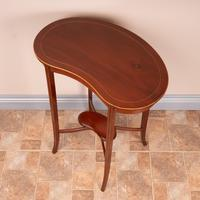 Edwardian Inlaid Mahogany Kidney Shape Occasional Table (15 of 15)