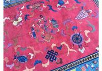 Antique Chinese Art Deco Carpet (6 of 9)