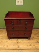 Small Antique 19th century Mahogany Chest of Drawers Washstand with aged patina (4 of 18)