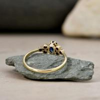 The Vintage Sapphire & Diamond 9ct Gold Ring (3 of 5)
