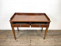 Victorian Two Drawer Mahogany Side Table (6 of 13)
