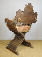Outstanding Italian Walnut Savonarola Chair (7 of 12)
