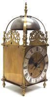Superb Vintage English Lantern Clock - Pendulum 8-day Striking Mantel Clock c.1890 (6 of 12)