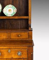 Handsome George III Period Oak Dresser & Rack (4 of 9)