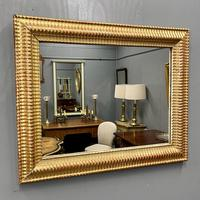 French Rippled Gilt Overmantle Mirror (2 of 8)