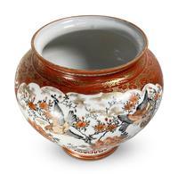 Meiji Period Kutani Kacho Decorated Vase (2 of 5)