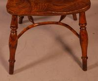 Yew Wood low Windsor Chair Rockley Maker (8 of 10)