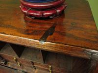 Antique Carved Oak Writing Bureau Desk with Fall Front, Handsome Gothic Piece (24 of 24)