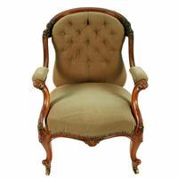 Victorian Rosewood Gent's Armchair (2 of 8)