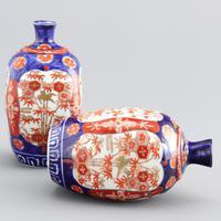 Pair of Japanese Meiji Period Square Form Imari Vases c.1890 (8 of 9)