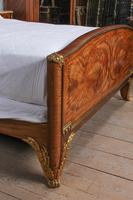 Spectacular and Beautiful Fruitwood Inlay Rococo King Size Bed (10 of 10)