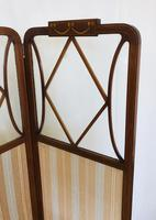 Edwardian Inlaid Mahogany Screen (7 of 13)