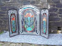 Arts & Crafts Leaded Glass Fire Screen (12 of 14)