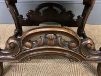 Carolean Style Upholstered Walnut Stool (3 of 6)