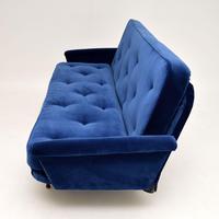 1950's Vintage Velvet Sofa Bed (8 of 12)