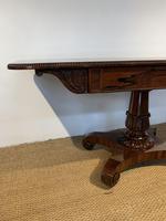 George IV Rosewood Pedestal Sofa Table (10 of 14)