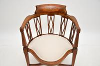 Antique Edwardian  Inlaid Mahogany Corner Chair (9 of 11)