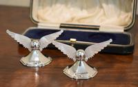 Unusual Pair of Winged Silver Knife Rests (3 of 5)