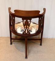 Mahogany Art Nouveau Corner Chair (2 of 10)