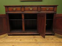 Solid Georgian Style Oak Dresser Base Sideboard by Titchmarsh & Goodwin (10 of 22)