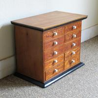 Satinwood & Walnut Victorian Collectors Chest (3 of 6)