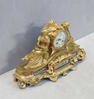 French Napoleon III Bronze Gilt Mantel Clock by Miroy Freres (10 of 13)