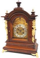 Fantastic Antique German HAC Bracket Clock – 8 Day Striking Mantel Clock c.1900 (2 of 12)