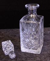 Vintage Cut Glass Square Decanter (3 of 7)