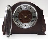 Good Art Deco Oak Mantel Clock – Striking 8-day Arched Top Mantle Clock (6 of 9)