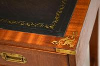 Antique Military Campaign Style Mahogany Writing Table / Desk (6 of 12)