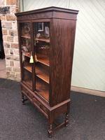Antique Glazed Oak Barley Twist Bookcase (7 of 11)