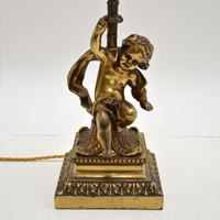 Antique French Gilt Metal Table Lamp (3 of 9)