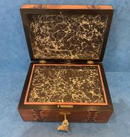 Victorian Walnut Inlaid Jewellery Box (12 of 12)
