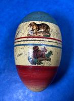 19th Century Skittles Game in Tunbridge Ware White Wood Painted Egg (2 of 21)