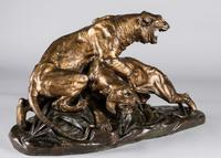 Stunning 19th Century French Bronze Sculpture of Two Tigers by E.Drouot (3 of 11)